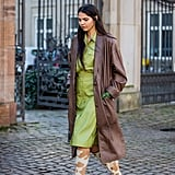 The Knee-High Boot Outfit: Tailored Leather In a Mix of Colours