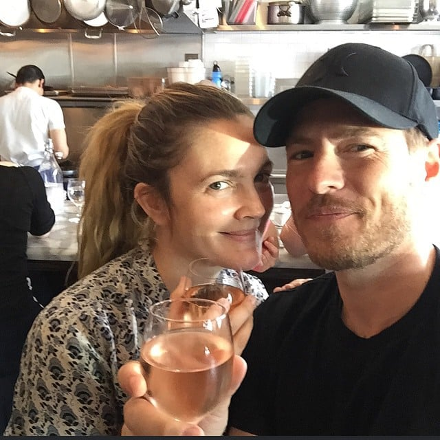 Drew shared a sweet photo of the couple celebrating their third wedding anniversary in June 2015.