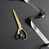 Hello Day Minimal Brass Gold & Black Scissors