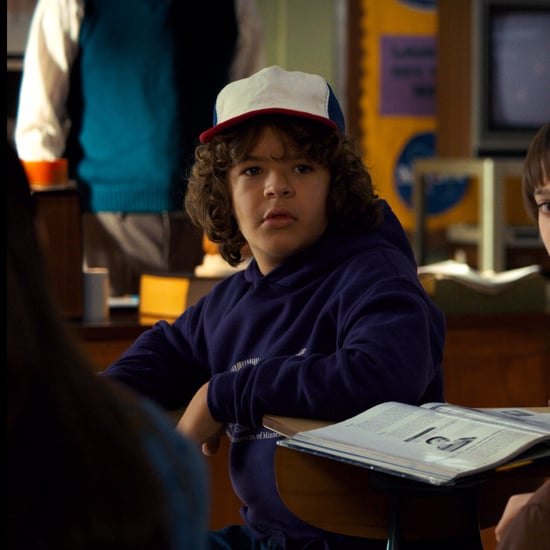 Dustin's Purple Dinosaur Sweatshirt in Stranger Things