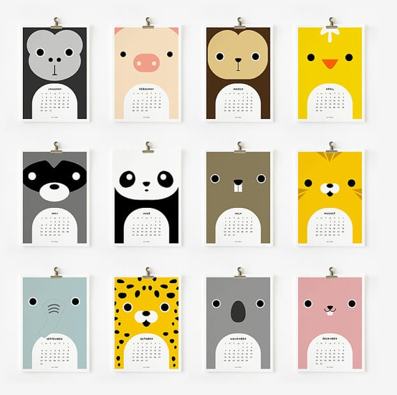 Calendar Ideas Y : Printable cute animal calendar
