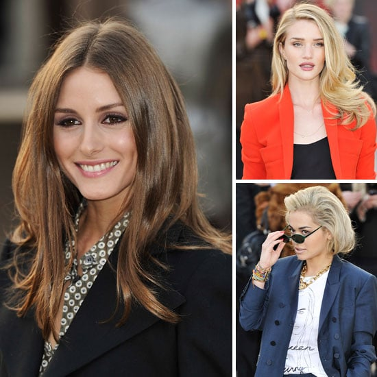 Rosie Huntington-Whiteley, Olivia Palermo at Burberry