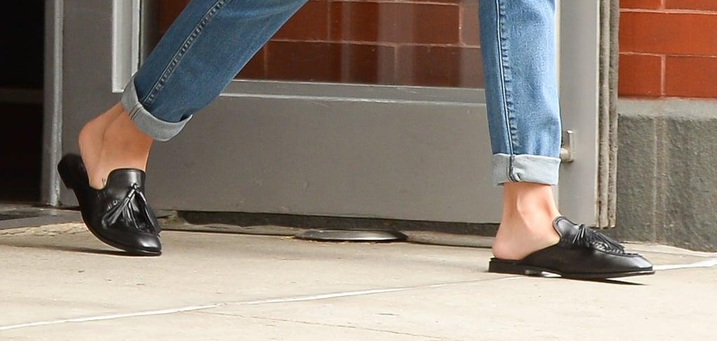 Selena Gomez Wearing Tassel Loafers