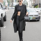 Make an All-Black Outfit Sexier With a Crop Top