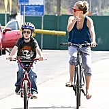 Kate Hudson Rides Into a Sunny Saturday With Ryder, Goldie, and Kurt