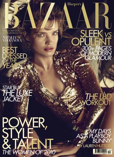 Natalia Vodianova on the Cover of Harper's Bazaar December 2010