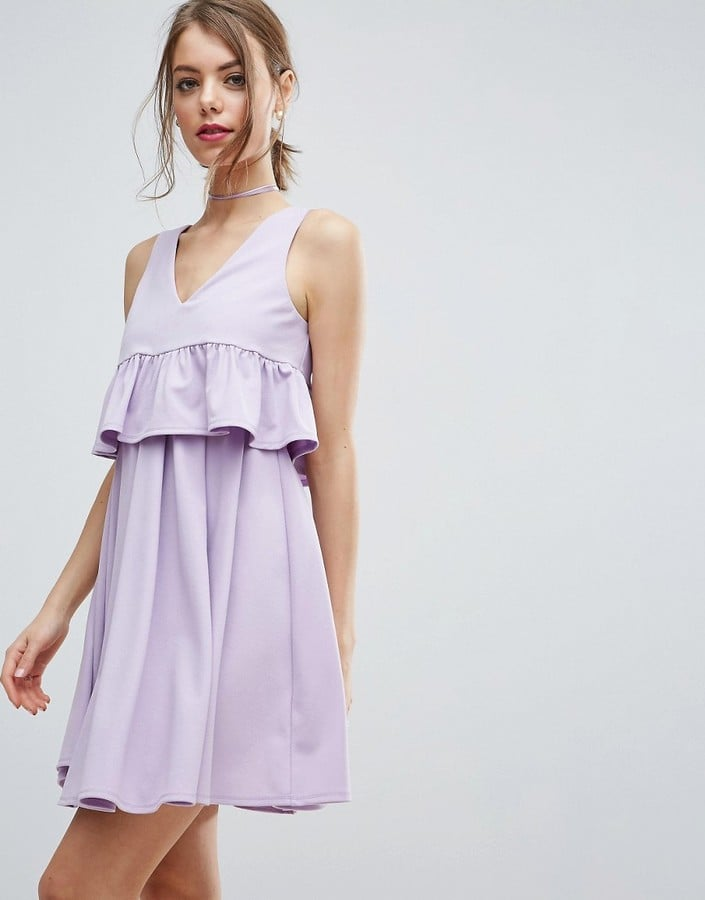 ASOS Crop Frill Layer Mini Prom Dress