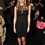Kristin Cavallari threw on an LBD and flirty red heels for Betsey Johnson.