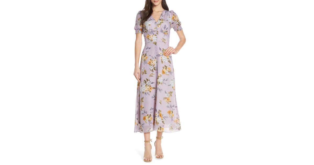 782da6e4d9ce Chelsea28 V-Neck Floral Midi Dress | Nordstrom Half Yearly Sale ...