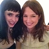 Krysten Ritter met up with Ellie Kemper. Source: Krysten Ritter on WhoSay