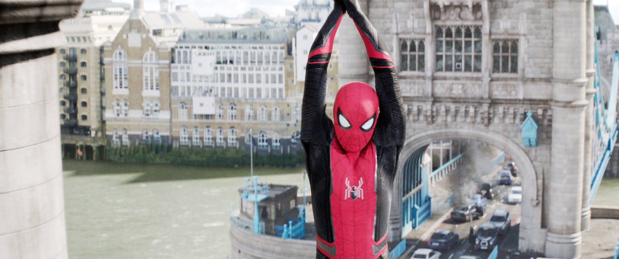 SPIDER-MAN: FAR FROM HOME, Tom Holland as Spider-Man / Peter Parker, 2019.  Columbia /  Marvel Studios/ Courtesy Everett Collection