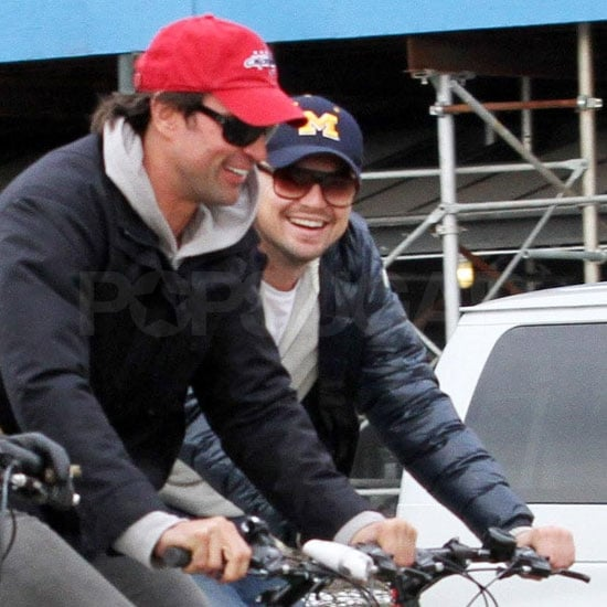 Leonardo DiCaprio With Lukas Haas During a Break From Shooting J. Edgar