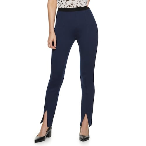 Nine West Petite Pull-On High-Waisted Skinny Scuba Pants