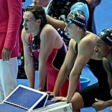 Katie Ledecky in the 4x200m Free Relay