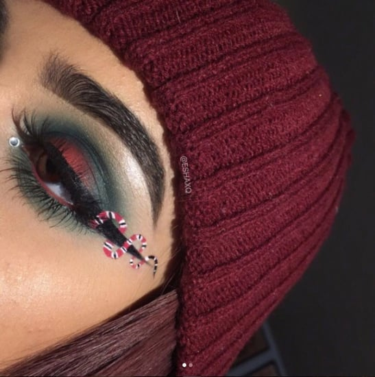 Gucci Snake Inspired Eye Makeup