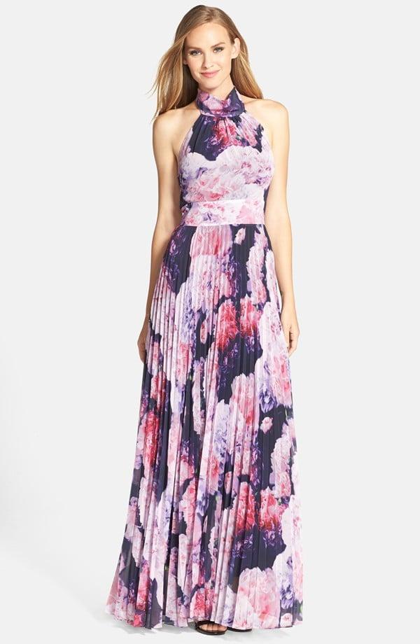 9ce180efa29 Eliza J Floral Chiffon Maxi Dress (Regular   Petite) ( 158)