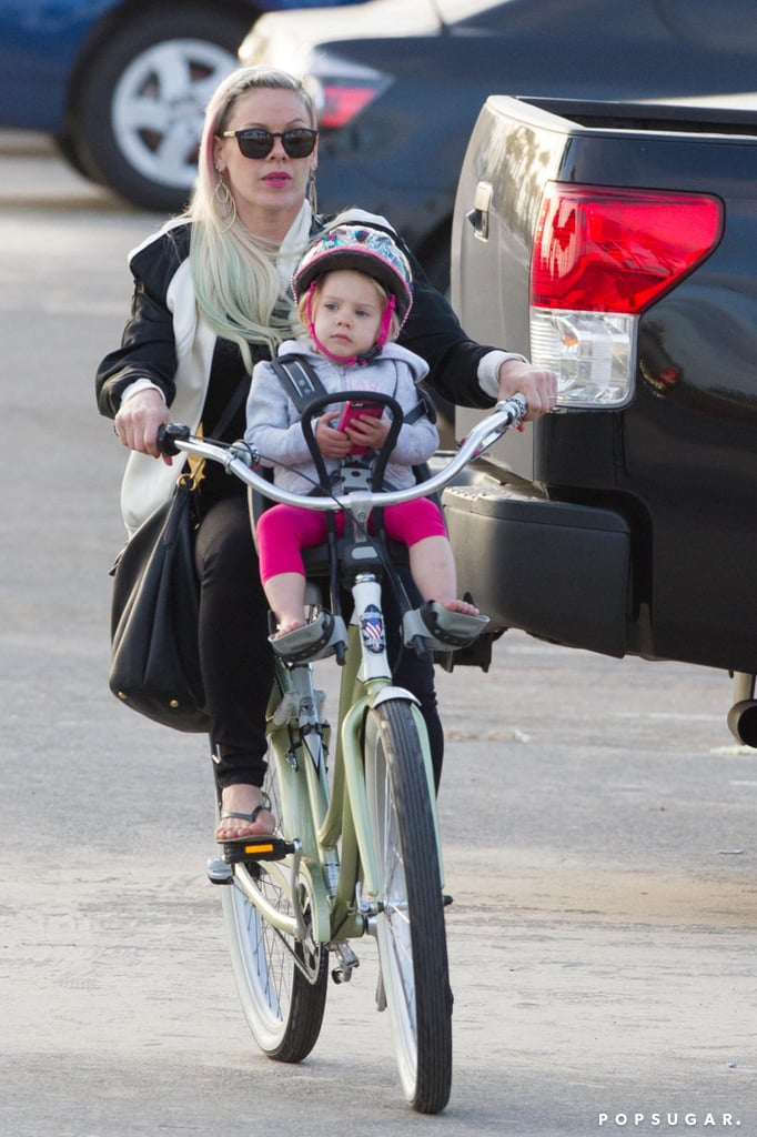 Pink and her daughter, Willow, hit up Venice Beach, CA, for a June bike ride.