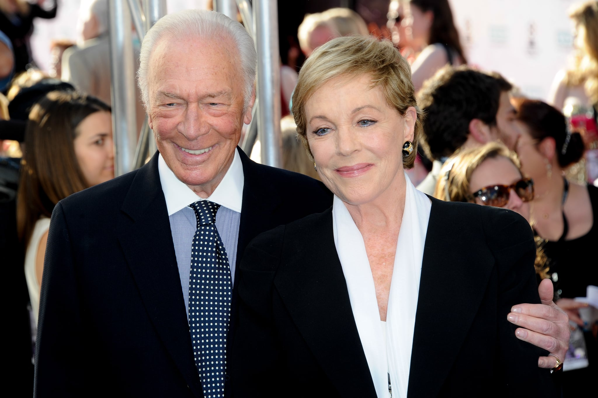 HOLLYWOOD, CA - MARCH 26:  Actor Christopher Plummer and actress Julie Andrews attend the 2015 TCM Classic Film Festival's opening night gala premiere of 50th Anniversary of