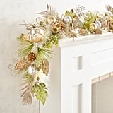 Light Green and Gold Garland