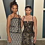 Taylor Russell and Alexa Demie at the Vanity Fair Oscars Party