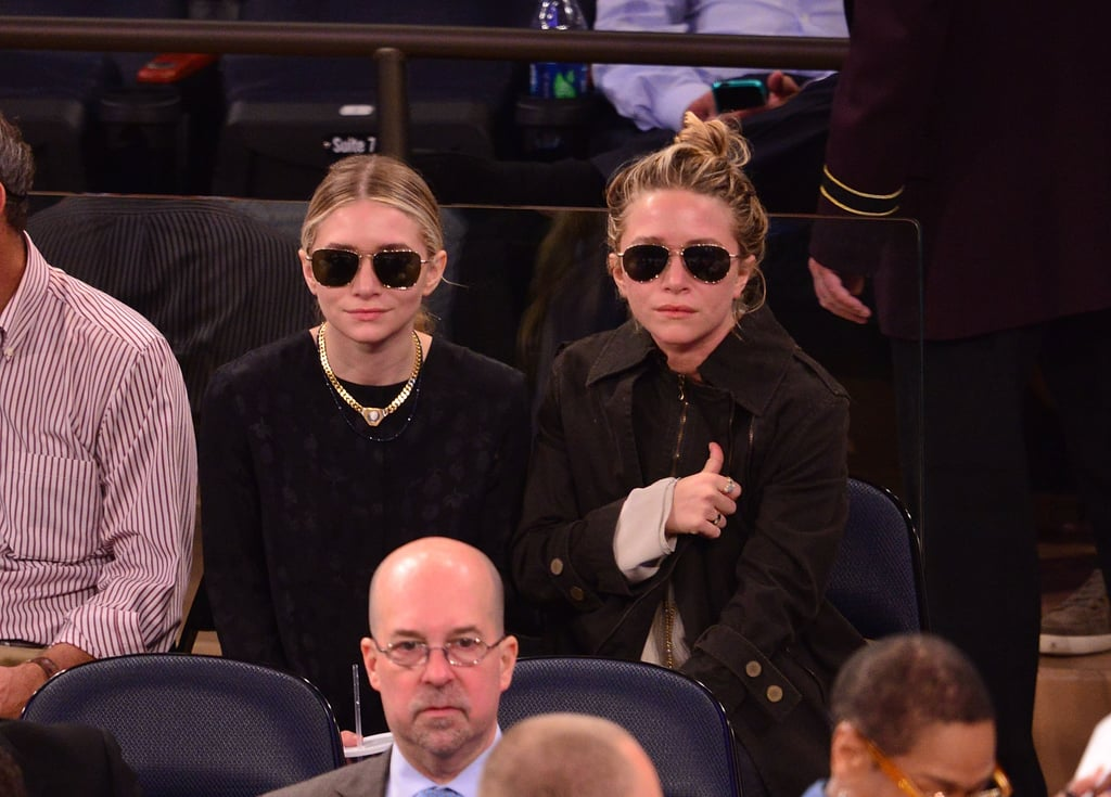 Do like the Olsen twins and skip your team's colors if you're not feeling the bold shades. Black is always in style — and makes for a smart pick if you're not sure what side you're cheering for just yet.