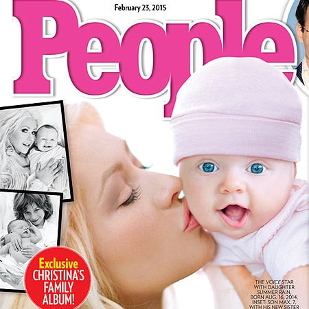 Christina Aguilera and Baby Girl Summer Rain on People