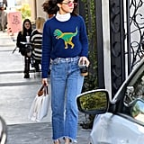 Selena Gomez Wore the Rexy Crewneck Straight From the Runway
