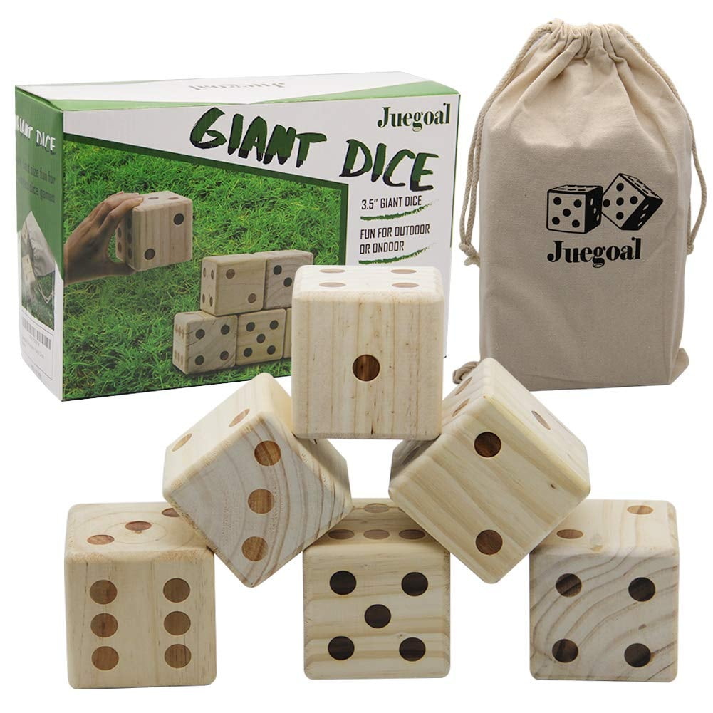 Giant Wooden Dice Outdoor Game Set