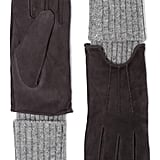 Soia & Kyo Rib Trim Tech Suede Gloves