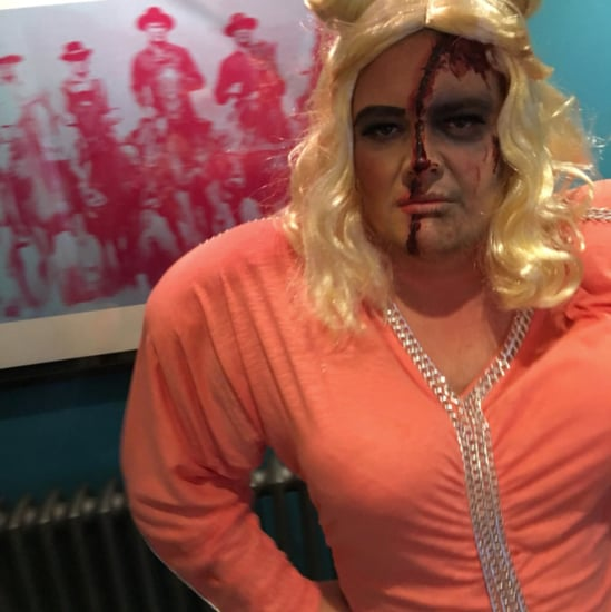 Alan Carr Dressed Up as Gemma Collins Halloween 2017