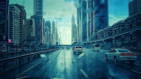 المطر في الإمارات العربية المتحدة 2018