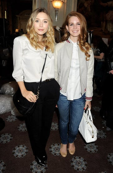 Elizabeth Olsen and Lana Del Rey at Mulberry