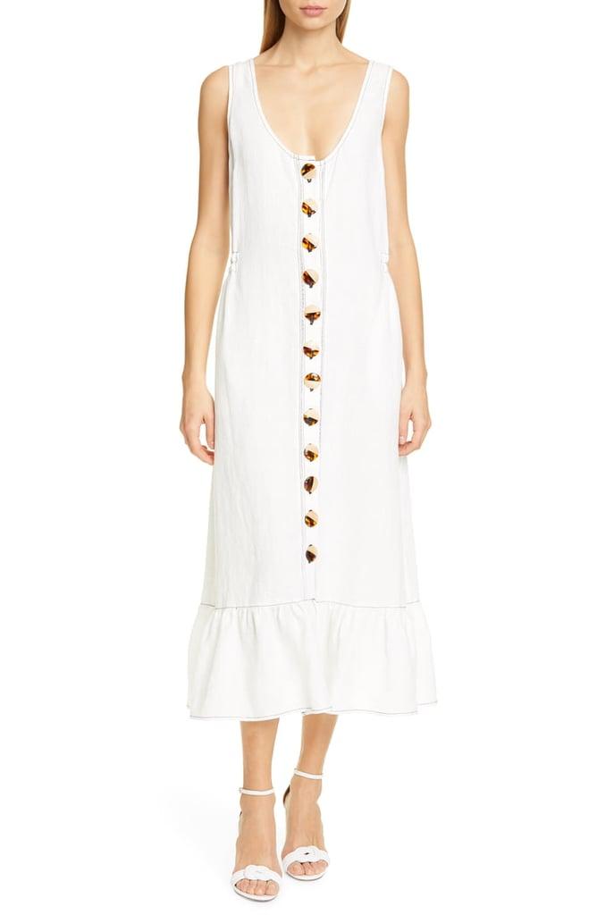 95d786ed6f0 Nicholas Garden Button-Front Linen Midi Dress