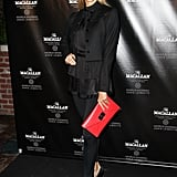 Stacy Keibler carried a red clutch for an evening out at the Bowery Hotel in NYC.