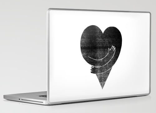 Photos of Society 6 and Urban Outfitters Laptop Skins
