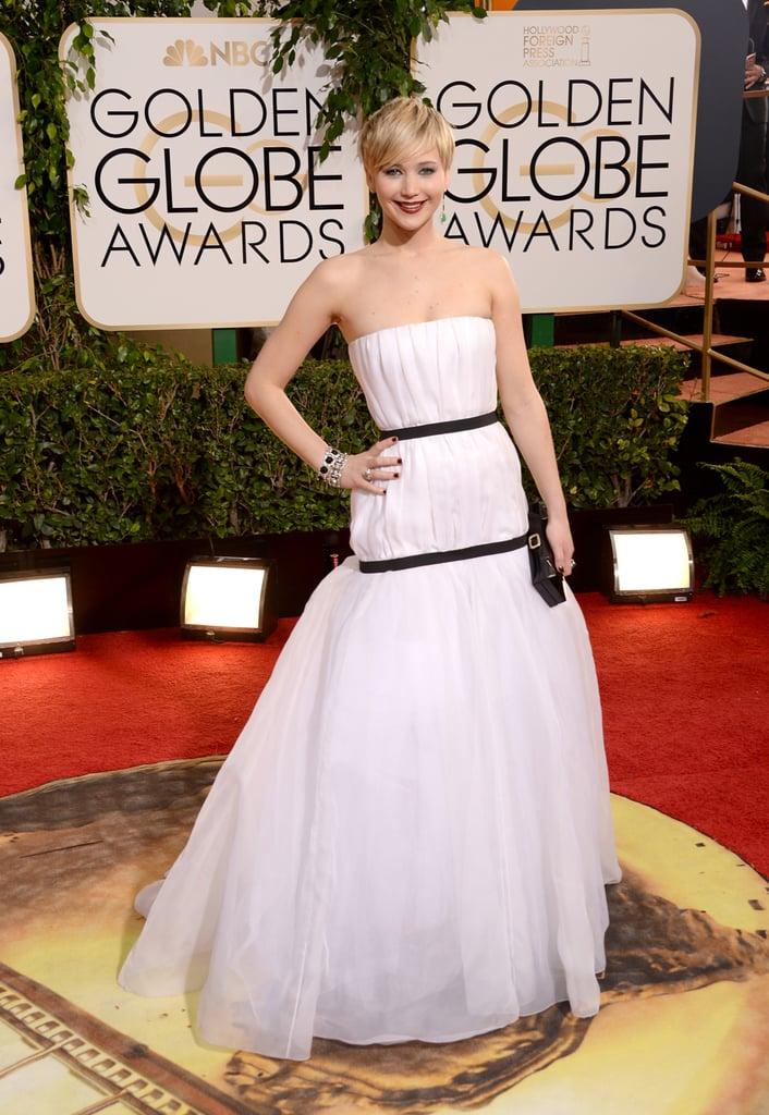 Jennifer Lawrence at the Golden Globes 2014