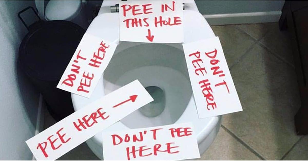 Mom S Toilet Seat Love Notes Popsugar Family