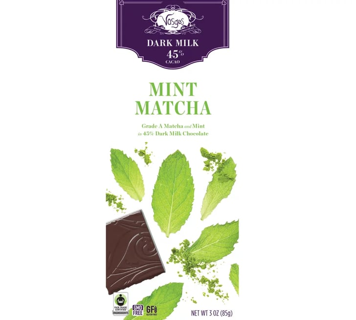 Vosges Haut-Chocolat Mint Matcha Chocolate Bar   POPSUGAR ...