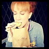 Kathy Griffin chowed down on donuts in NYC. Source: Instagram user kathygriffin