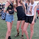 The model crew struck a pose in their respective Coachella wares. Source: Meg Cuna