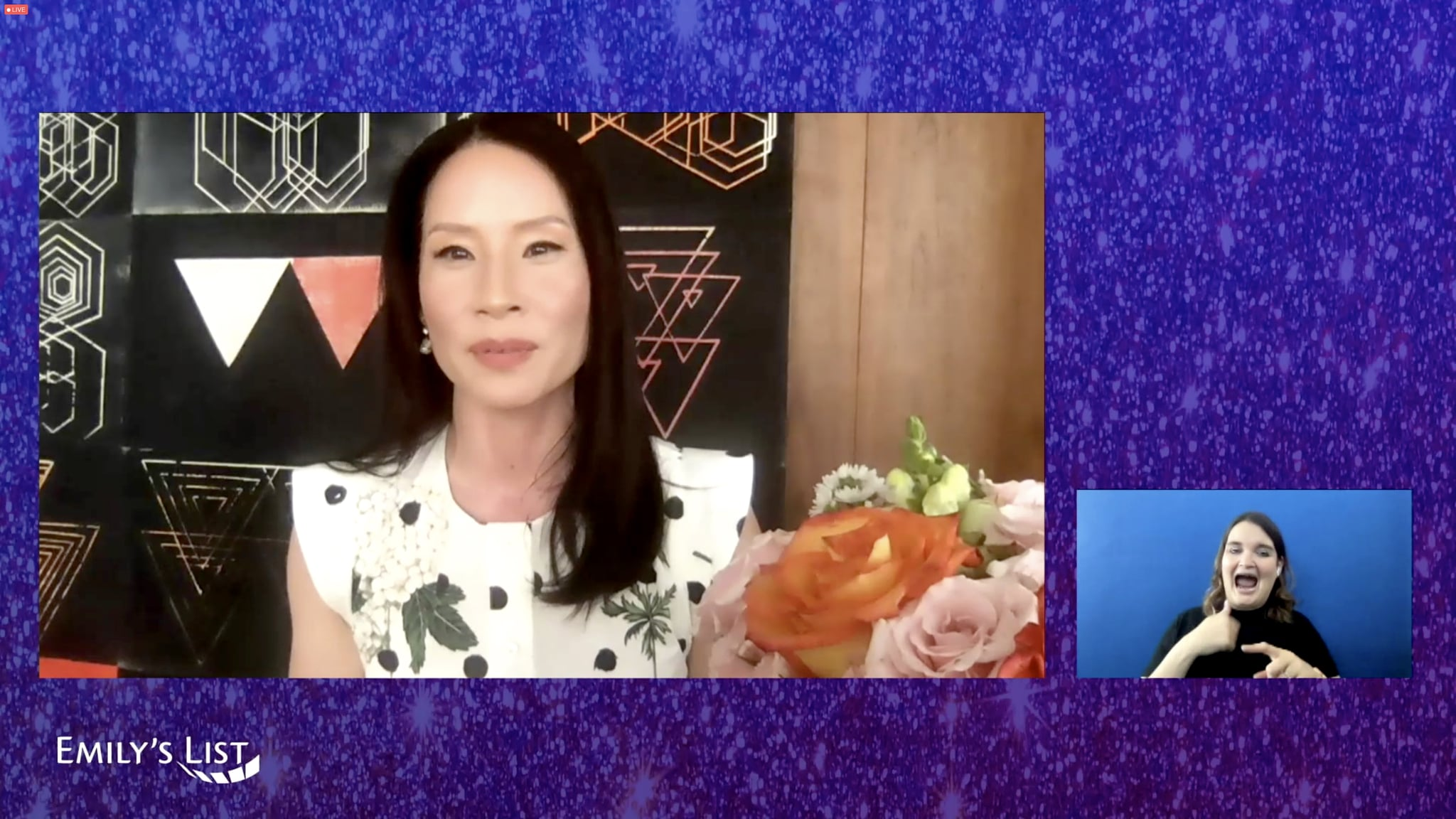 UNSPECIFIED - APRIL 20: In this screengrab, Lucy Liu speaks during the EMILY's List Fourth Annual Pre-Oscars Event on Tuesday, on April 20, 2021. (Photo by Getty Images/Getty Images for EMILY's List)
