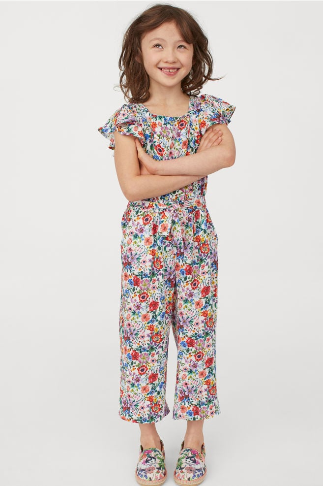 Patterned Ruffled Jumpsuit