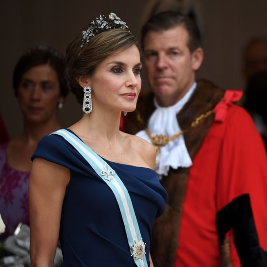 Queen Letizia Sapphire Earrings July 2017