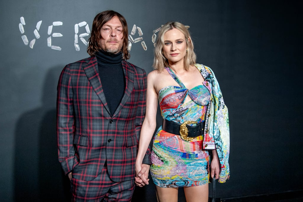Diane Kruger and Norman Reedus are back on the red carpet a month after welcoming their first child together! On Sunday, the duo arrived in style for the Versace show in NYC. Diane and Norman were the epitome of cool as they held hands and struck a handful of poses at the star-studded show, which also brought out Kim Kardashian, Kanye West, Blake Lively, and Lupita Nyong'o. Romance rumors between Diane and Norman first began swirling back in 2015, but it wasn't until two years later that they finally confirmed them with a passionate makeout session in NYC. In early November, Diane gave birth to their first child together (Norman is also father to a 19-year-old son named Mingus with his ex Helena Christensen), and just last week, they looked smitten during their first public outing. I guess this means Diane and Norman are ready to get back to work!       Related:                                                                                                           10 Photos of Diane Kruger and Norman Reedus's Romance That Prove Love Isn't Dead