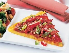 Fast & Easy Dinner: Polenta Pizza