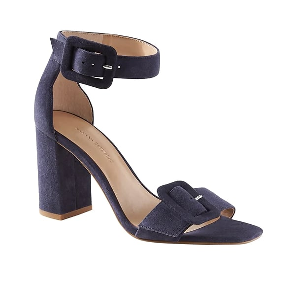 Buckle Block-Heel Sandal