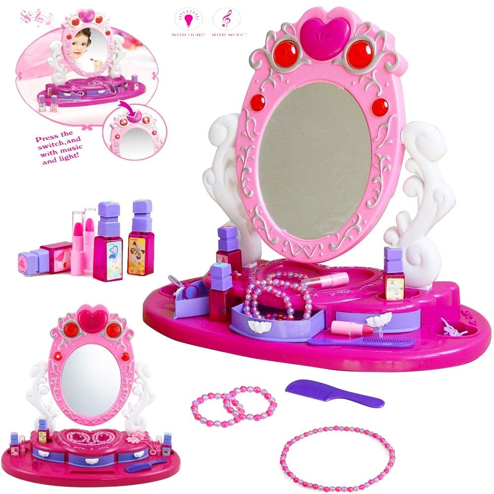 For 4-Year-Olds: Children Princess Vanity Dressing Table Set