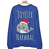 Narwhal Christmas Sweatshirt ($31)