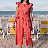Gal Meets Glam Collection Saffron Flutter-Sleeve Jumpsuit