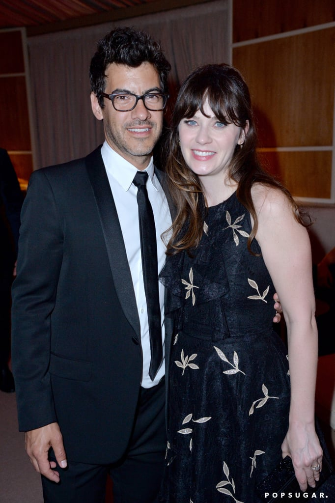 Pictured: Zooey Deschanel and Jacob Pechenik
